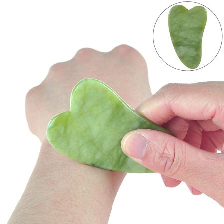Natuurlijke Jade Guasha Stimulator Stone Gua Sha Board Beauty Tool Gezondheidszorg Guasha Schraper