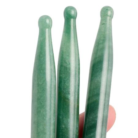 Natuurlijke Rose Quartz Aventurijn Jade Crystal Manual Massage Pen Stok Acupunctuur