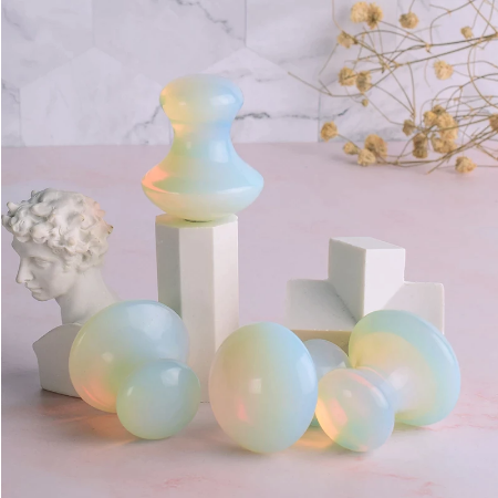 Opalite Paddestoel Guasha Tool China Tradities Gezondheidszorg Massager Crystal Quarts