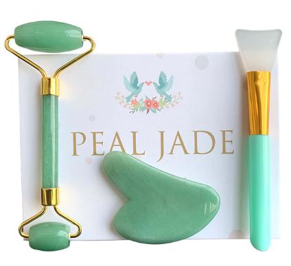 Groene Aventurijn Jade Roller Massage Guasha Raad Natuurlijke Kristal Steen Gouache