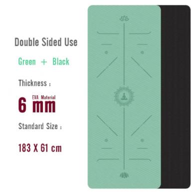 1830 610 6Mm Eva Yoga Mat Met Positie Lijn Non Slip Tapijt Mat Voor Beginner Milieu