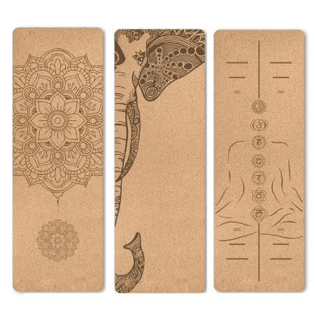 Natuurlijke Kurk Tpe Gedrukt Yoga Mat Antislip Esterilla Yoga Zweet Absorberende