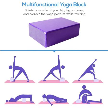 Yoga Baksteen Eva Yoga Blok Kleurrijke Schuim Blok Bolster Yoga Oefening Workout