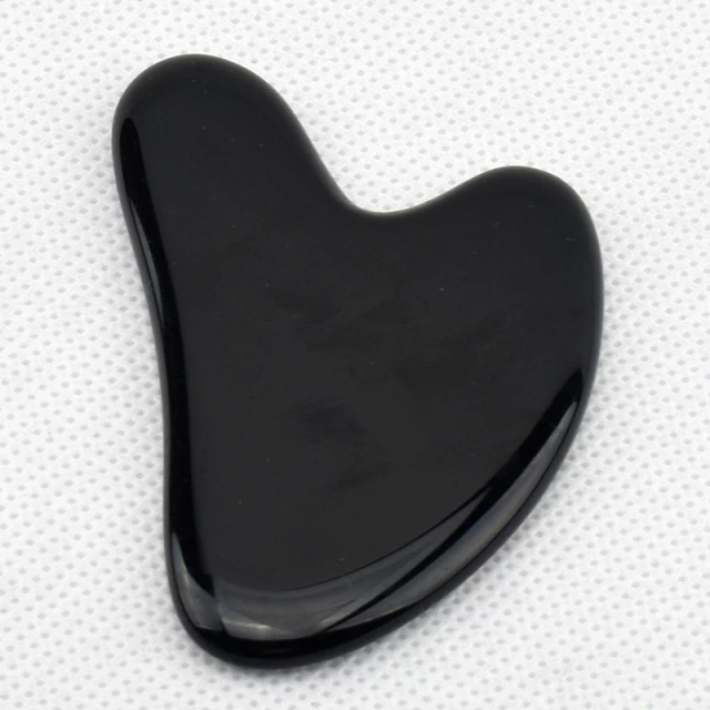 Obsidiaan-Gezicht-Roller-Anti-Cellulite-Facial-Massage-Gua-Sha-Natuursteen-Jade-Roller-Afslanken-beauty roller - jade roller - gua sha roller