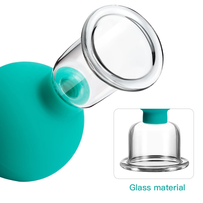 Groen Massager-Voor-Gezicht-Rubber-Cupping-Massage-Body-Cup-Facial-Skin-Lifting-Anti-Cellulite-Zuig-Glas-Cu