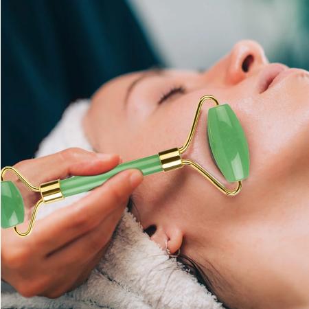 Aventurijn Roller Facial Massager Roller Real Stone Massage Gezicht Lifting Anti aging
