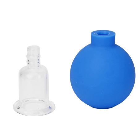 4Pcs Anti Cellulite Zuignap Ventosa Rubber Hoofd Glazen Pot Vacuüm Cupping Set Blikjes