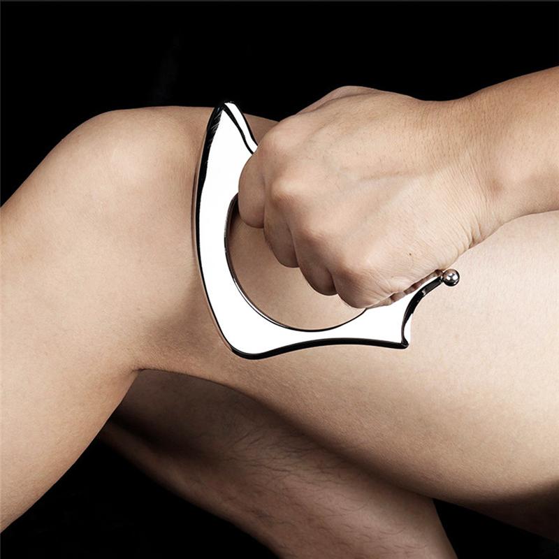 IASTM Tool Mond vorm Tissue-Verlichten-Gua-Sha-Tool-Spieren-Massager-Body-Ontspanning-Rvs-Soft-Tissue-Fysieke